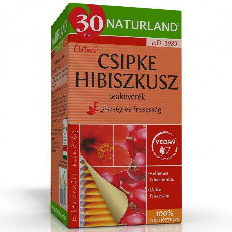 Naturland csipke-hibiszkusz filteres tea 20x