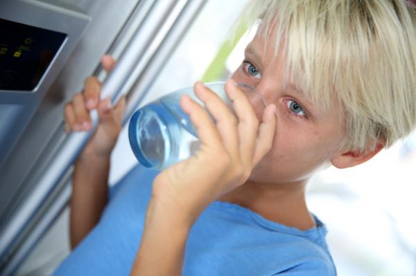 visszér iszik vizet